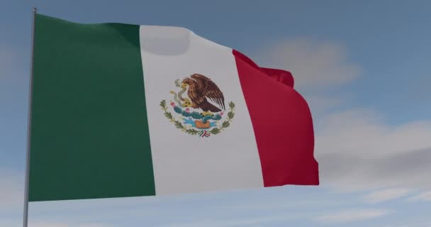 flag Mexico patriotism national freedom, seamless loop, alpha channel