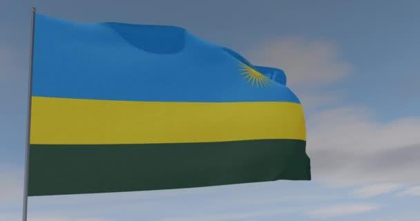 vlajka rwandského vlastenectví národní svoboda, bezproblémová smyčka, alfa kanál