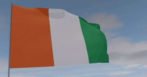 flag Ivory Coast patriotism national freedom, seamless loop, alpha channel