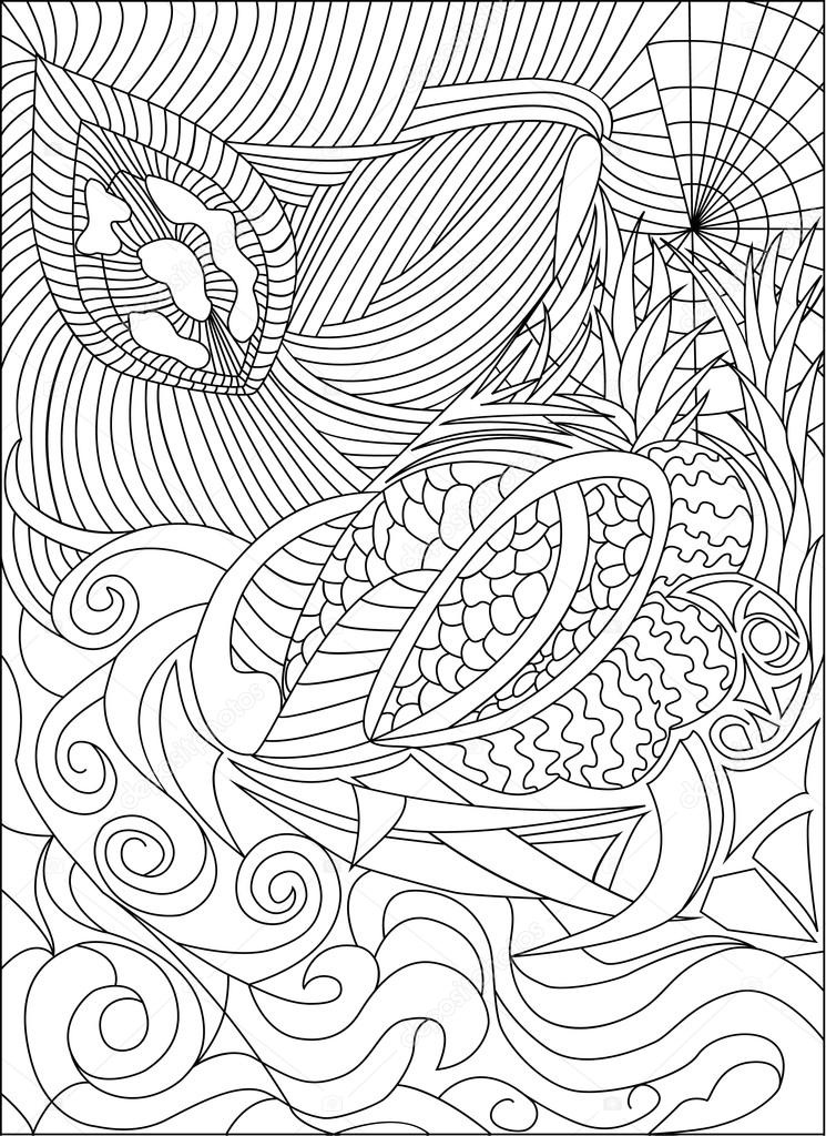 Malvorlagen für Erwachsene Bild, Liebe und Blumen, schwarz / weiß ...