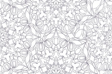 Coloring pages for adults and older children. painting, mandala flower. Islamic, Arabic, Indian. Black and white. Vintage pattern handmade decorative ornament. Royal vector design element
