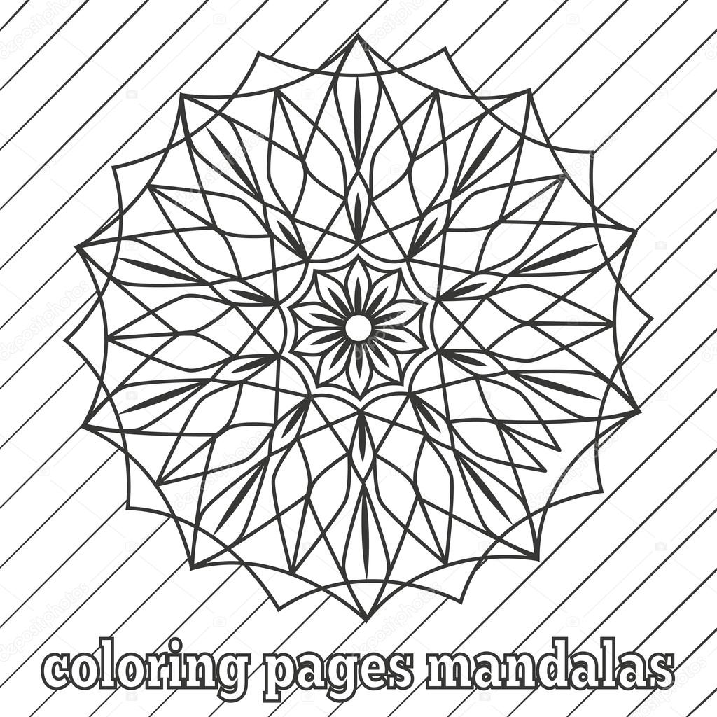 Malvorlagen für ältere Kinder und Erwachsene. Gemälde, Mandala-Blume ...