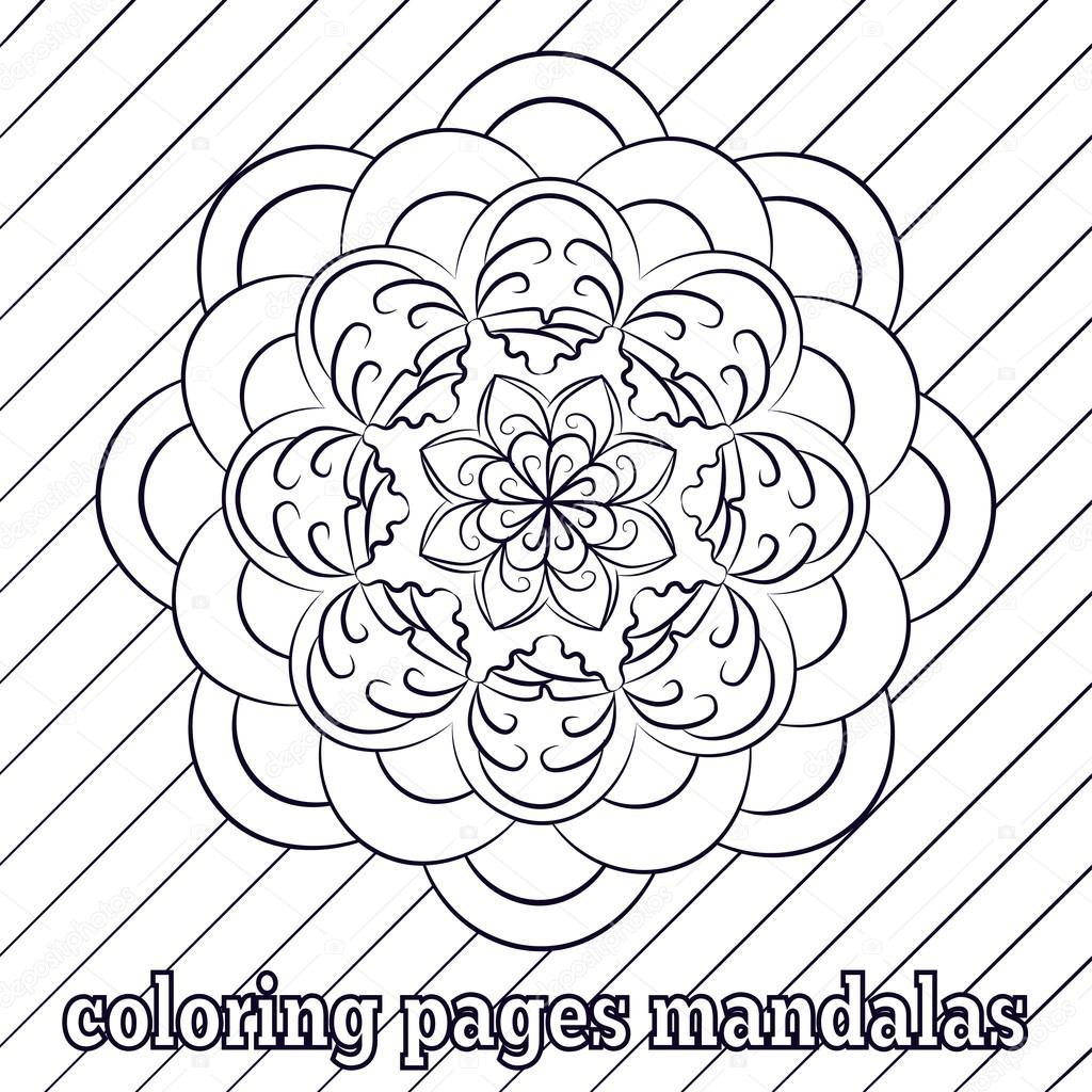 Páginas para colorear para adultos y niños mayores. pintura, flor de ...
