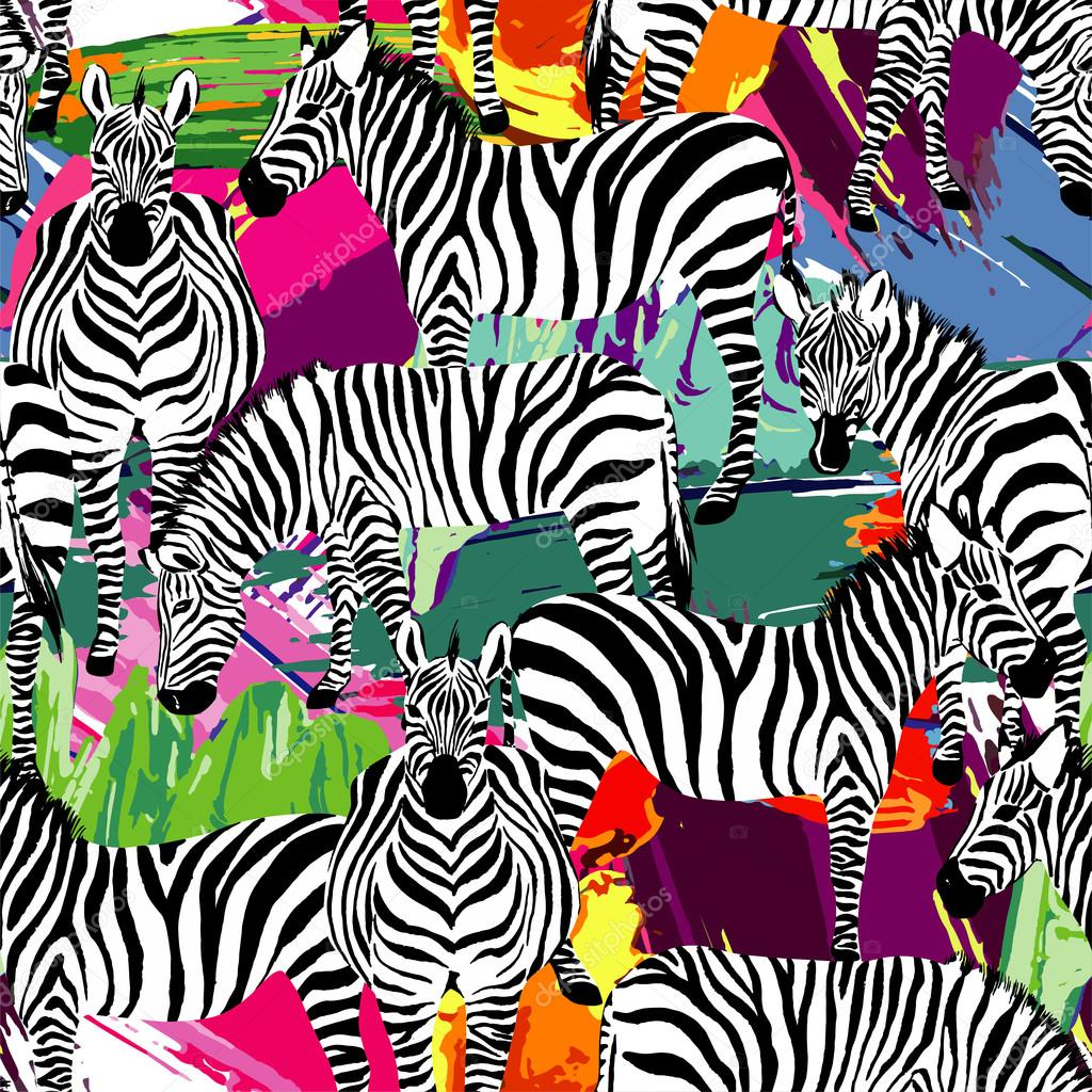 zebra black and white pattern, painting background
