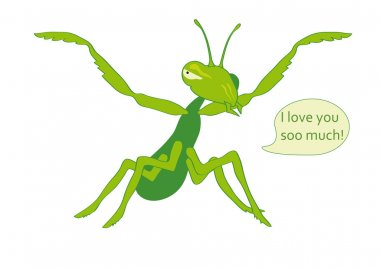 Mantis eats you with Love.