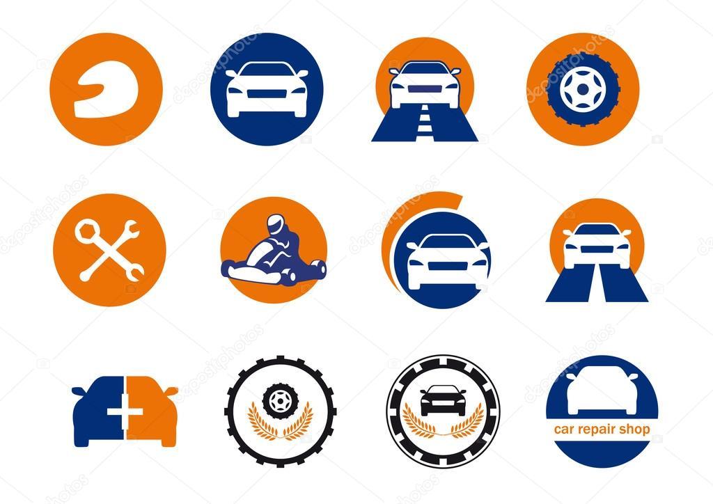car repair logo design stock vector betka82 95107280 rh depositphotos com car repair log software car repair log form