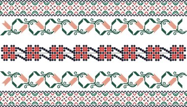 Embroidery inspired seamless pattern