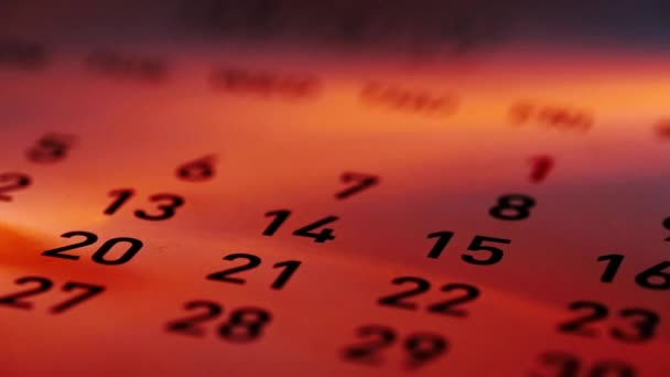 žlutá připínáček na kalendáři