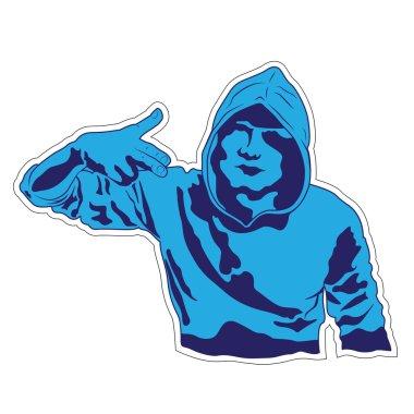 Hooligan Threatens - Vector illustration