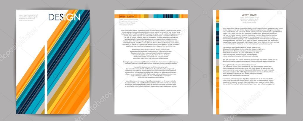 Abstrakte Komposition Visitenkarte Set A4 Broschüre Titel