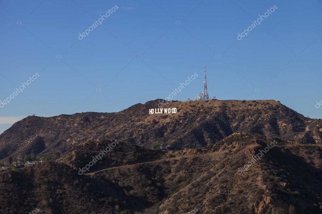 Hollywood sign from a viewer