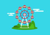 Beautiful ferris wheel design for your design works