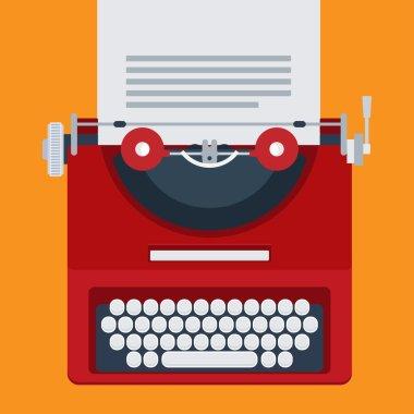 Flat typewriter for use in design