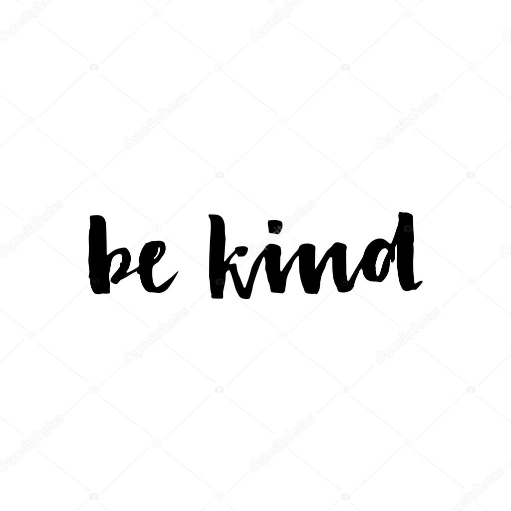 Download Be kind - hand drawn lettering phrase. — Stock Vector ...