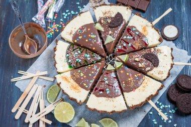 Christmas dessert. Lime tart
