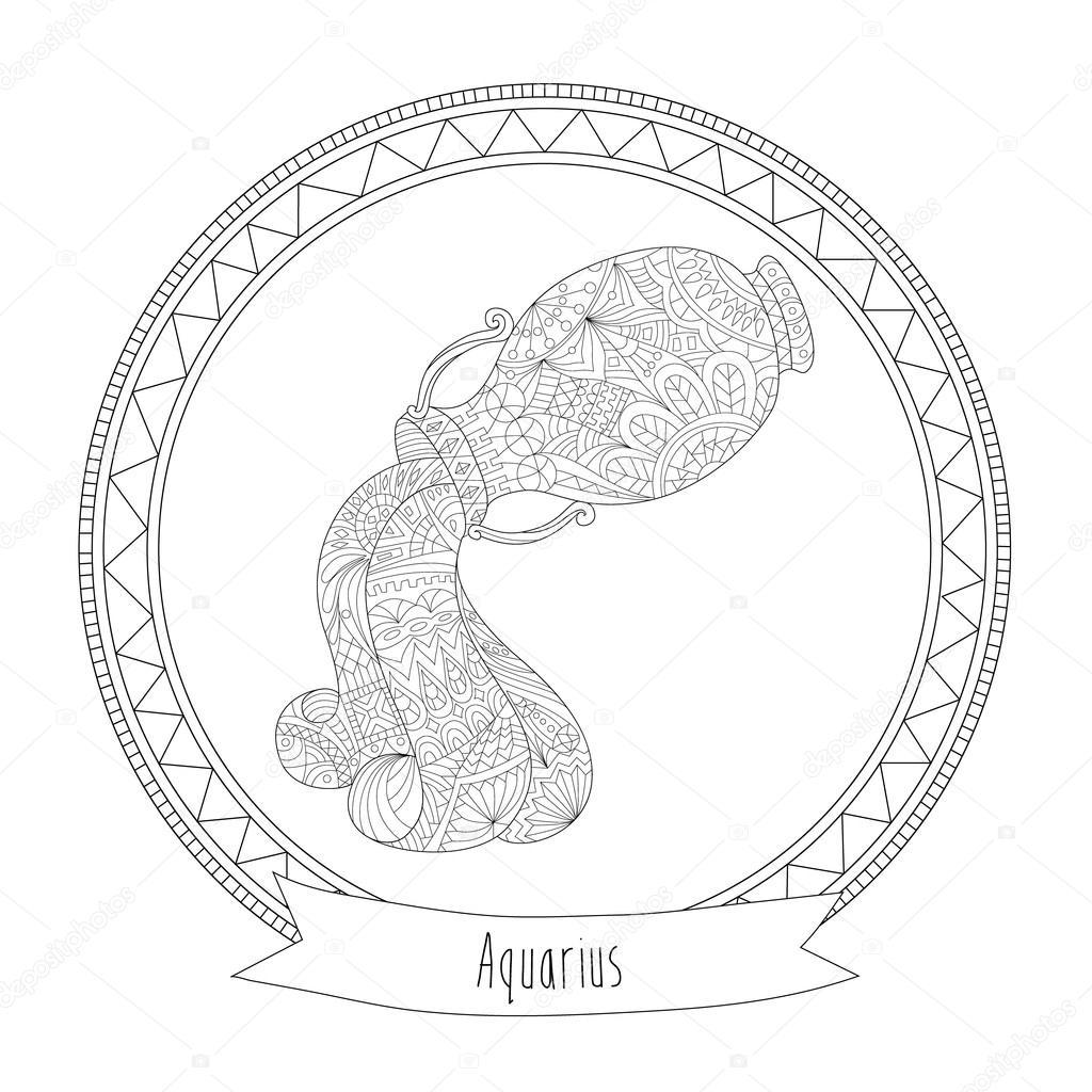 Horoscope symbol aquarius stock vector svitlanasamokhina horoscope symbol aquarius stock vector buycottarizona