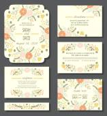 floral cards or wedding invitations