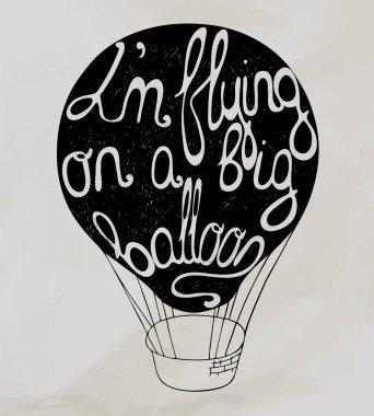 I'm flying on a big ballon