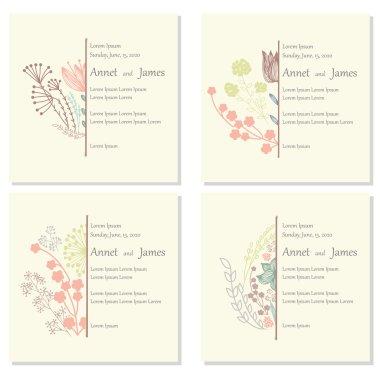 Ornate Floral Half Frames Set