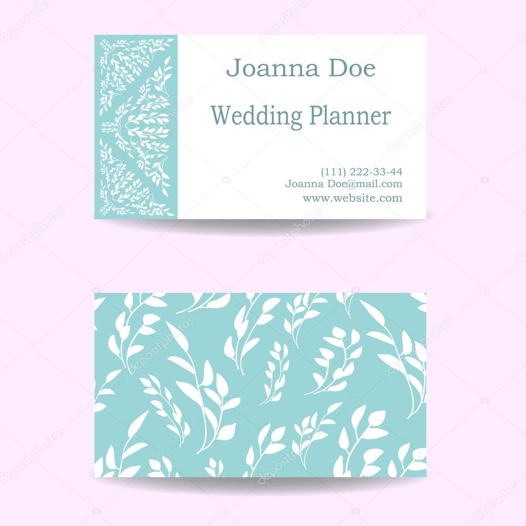 Visiting business card of wedding planner — Stock Vector ...
