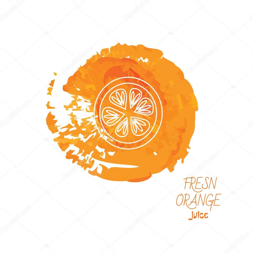 Fresh orange juice icon