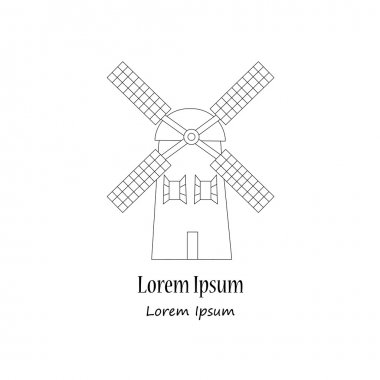 modern logotype with wind mill