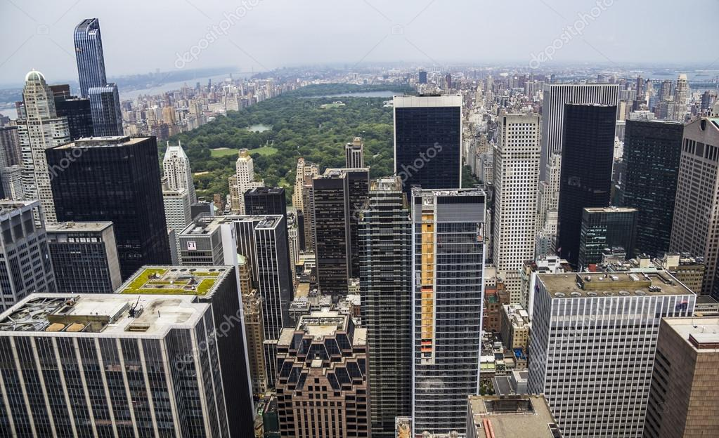 New York City view of Central Parc from Rockefeller