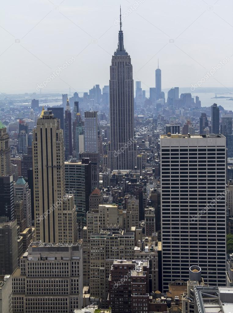 New York City view from Rockefeller
