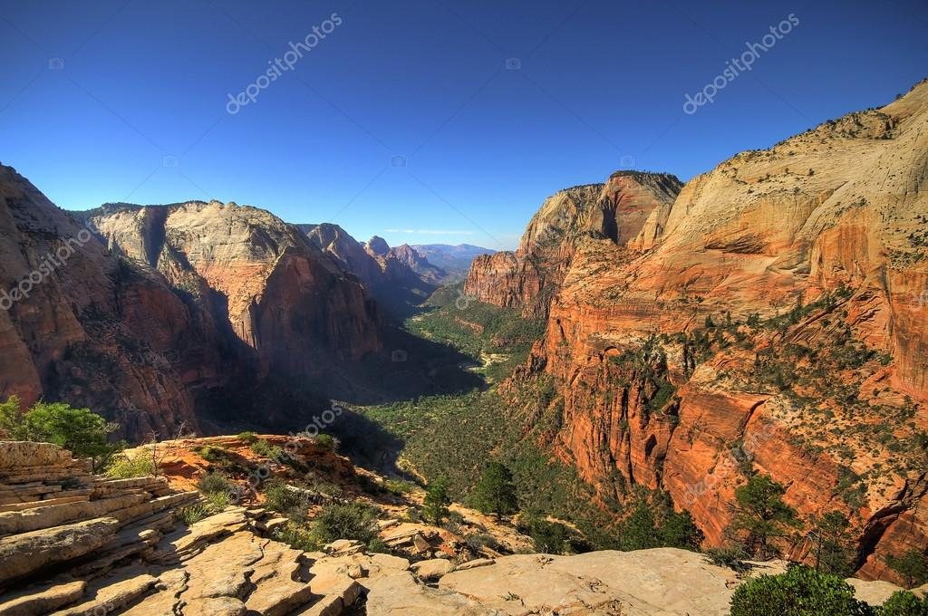 View on Zion National Park from Angels landing point