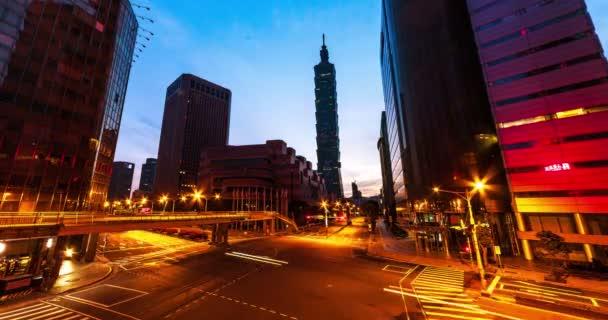 Taipei City z noci den, Taipei, Tchaj-wan