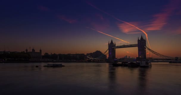 Tower Bridge in London at Dawn,England