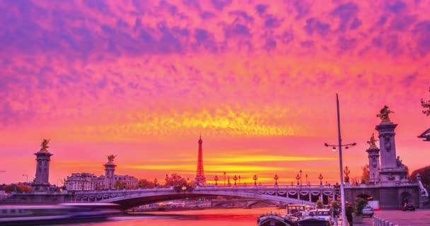 Landmark Famous  Seine River and Alexander III Bridge-PARIS, FRANCE