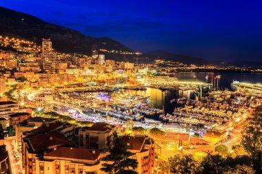 City of Monte Carlo at night, Monaco