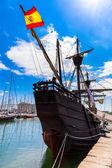 Spanish Galleon in Barcelona port