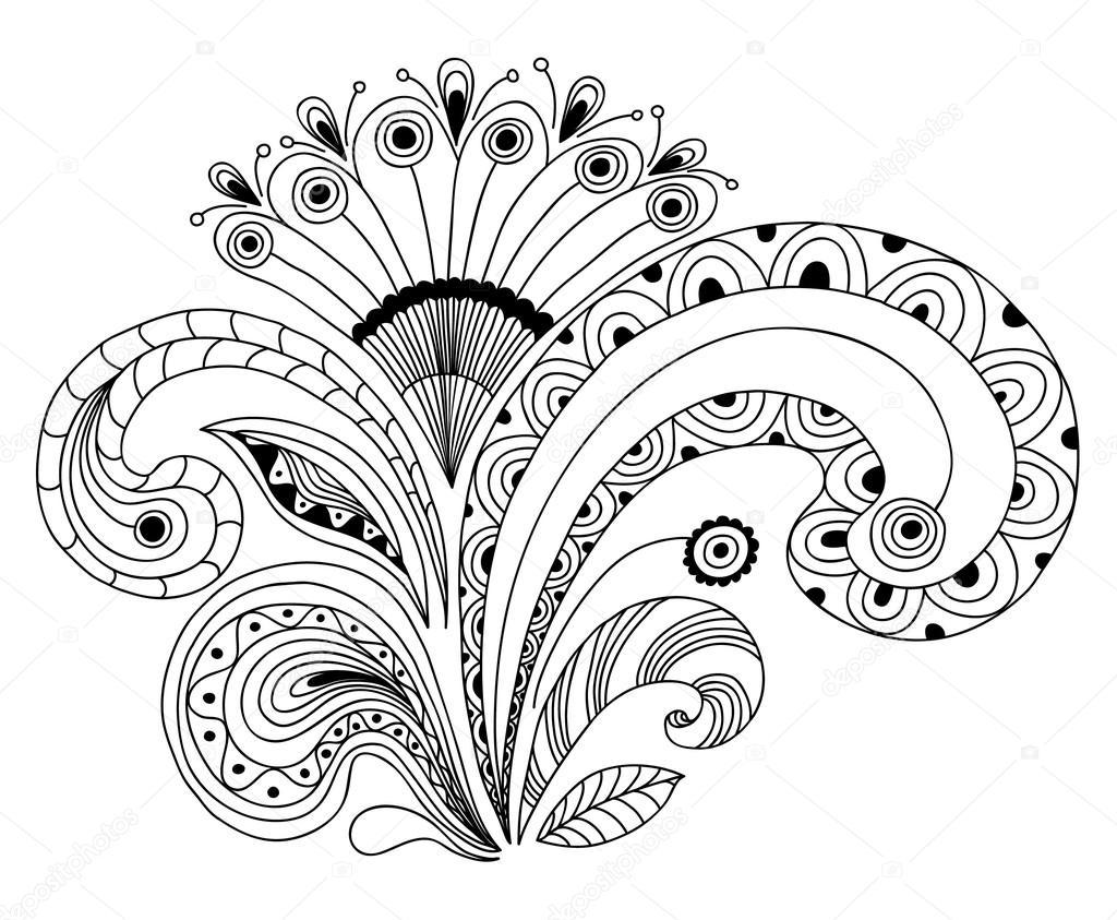 Livre de coloriage fleur image vectorielle 110316202 - Fleur coloriage ...