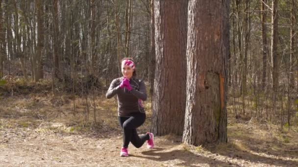 sportovní běžec v lese