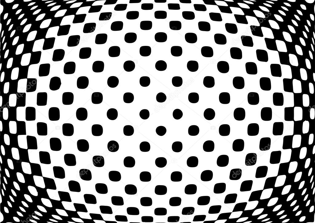 Optical illusion monochrome abstract background