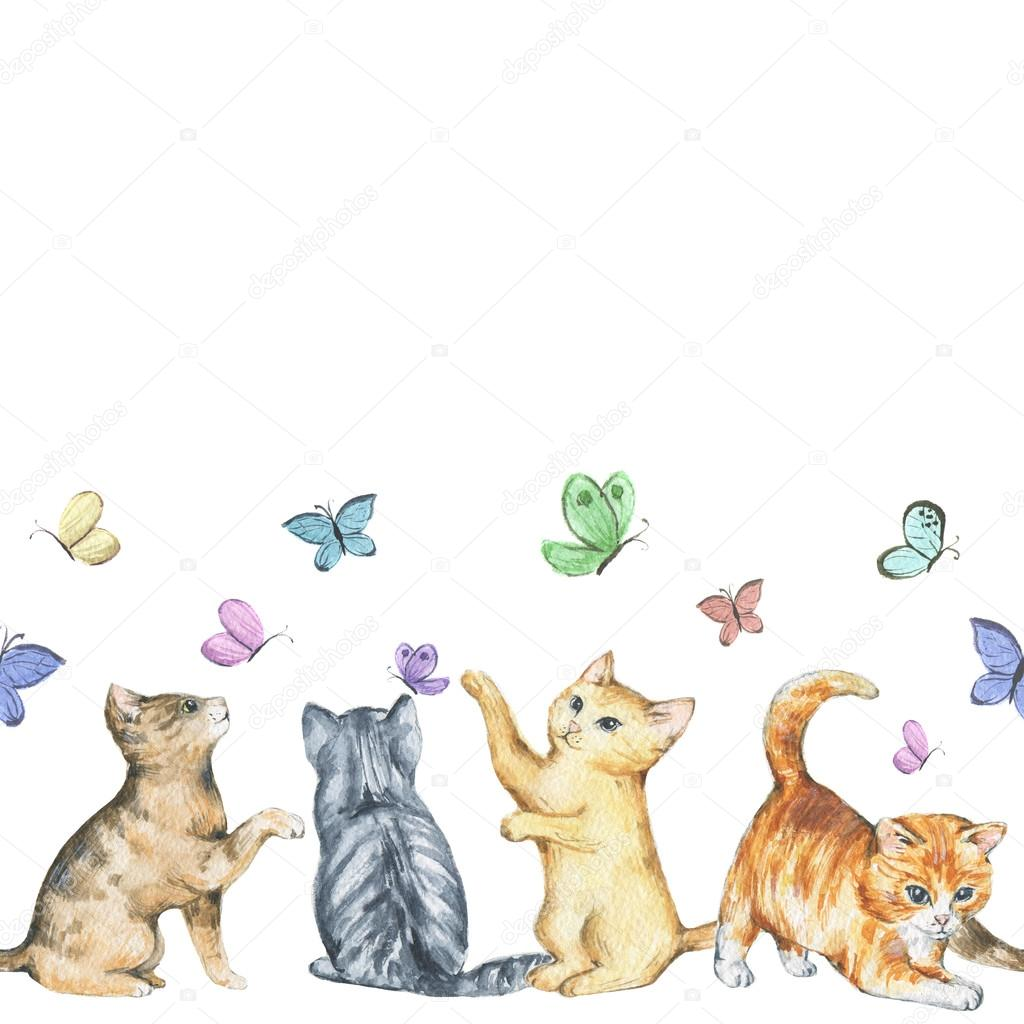 cute cat border www pixshark com images galleries with free kitten clipart for birthday free kitchen clipart images