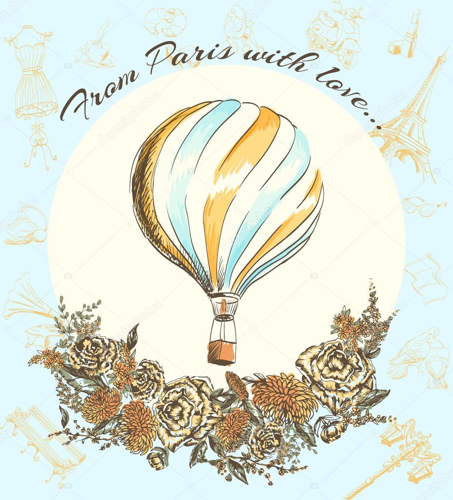 Мир приколов, творческая открытка о франции