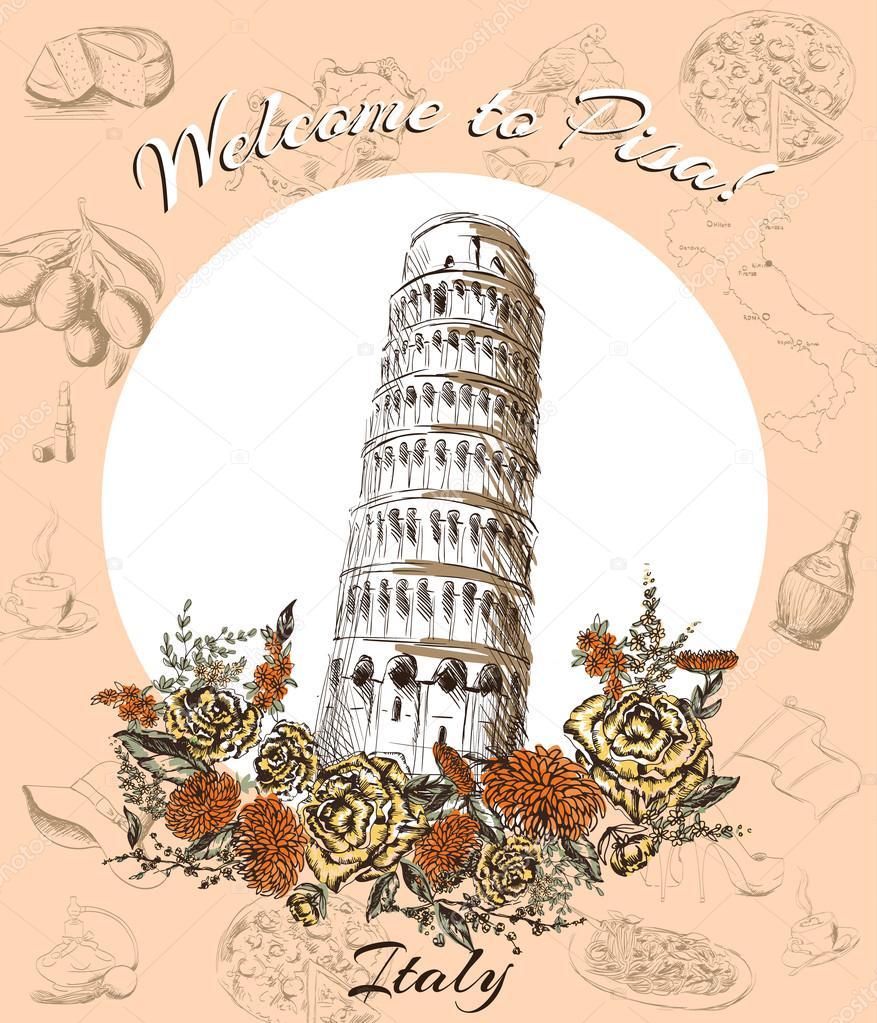 Рождением, почтовая открытка на итальянском