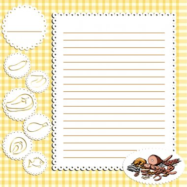 Recipe book, page design