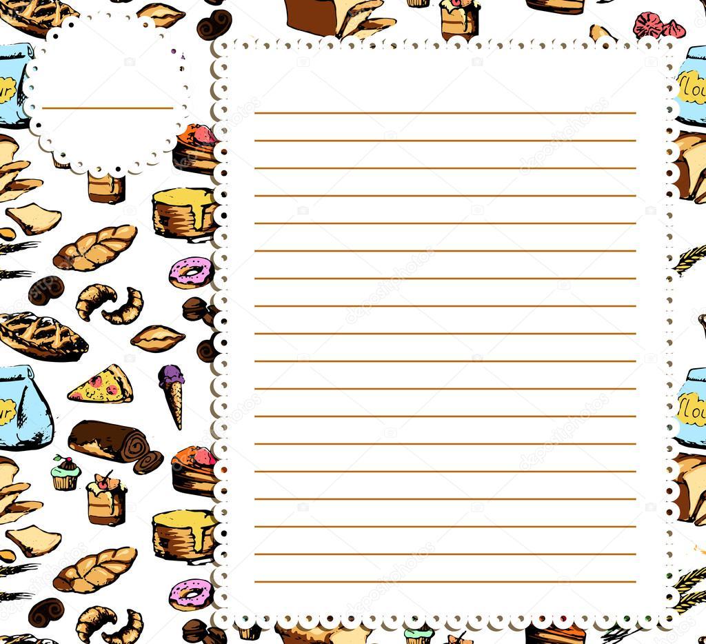 recipe book page design stock vector elenbushe gmail com 90469562