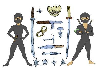 Ninjas with weapon