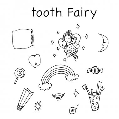 Tooth fairy vector illustration