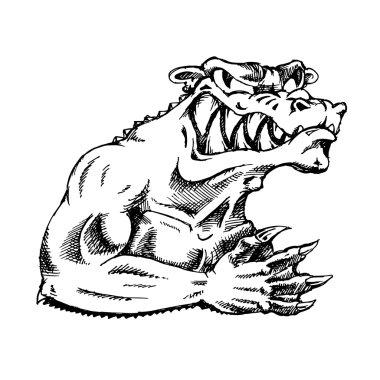 Evil monster vector
