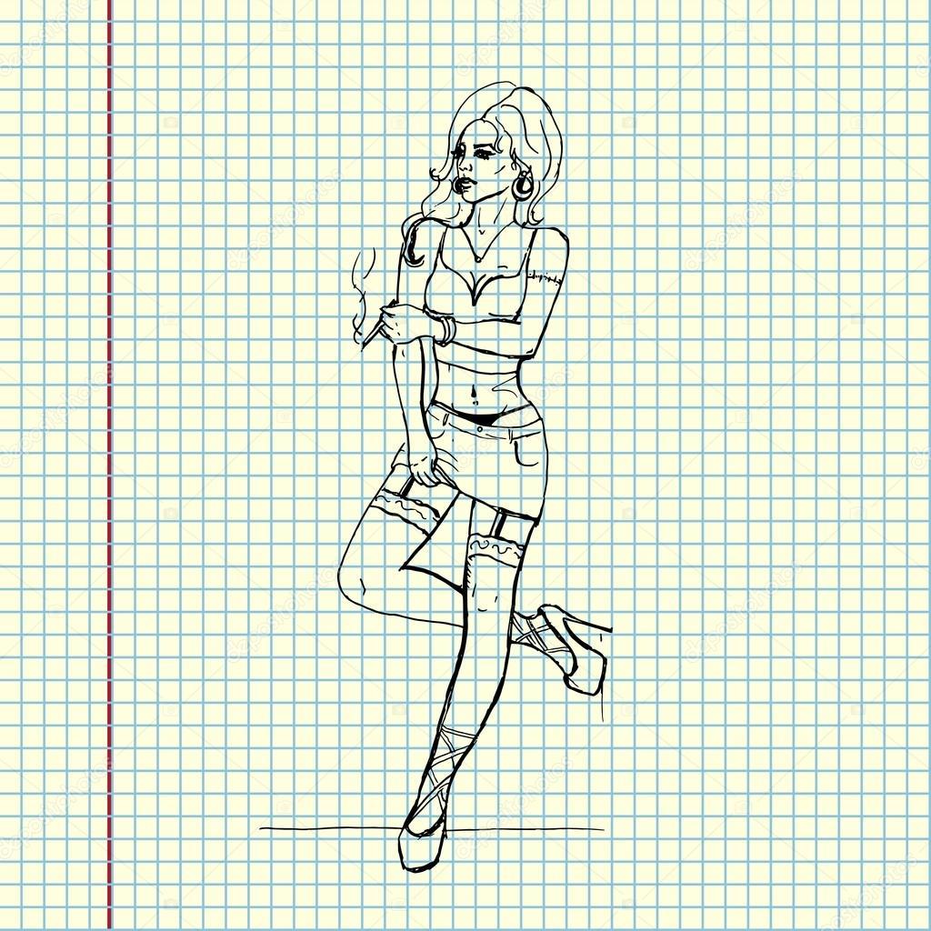 Как рисовать проституток проститутки павлова нижегородской