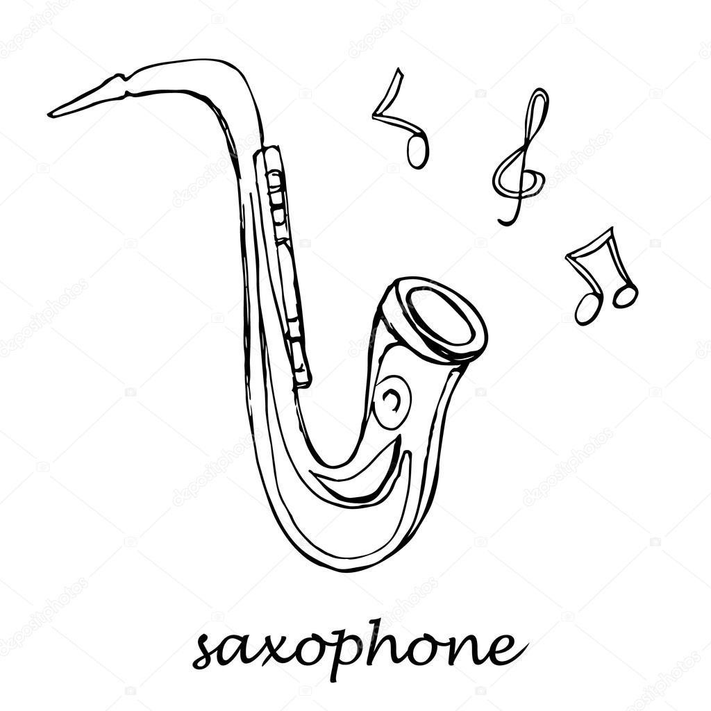 Imágenes Saxofon Alto Para Colorear Instrumento Clásico
