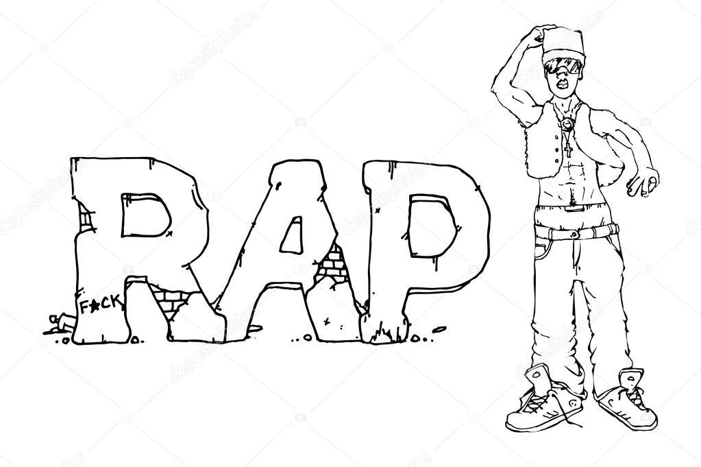 Ilustración de cantante de rap — Archivo Imágenes Vectoriales ...