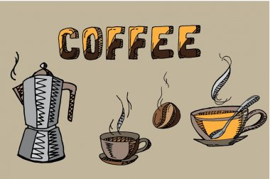 Coffee elements set