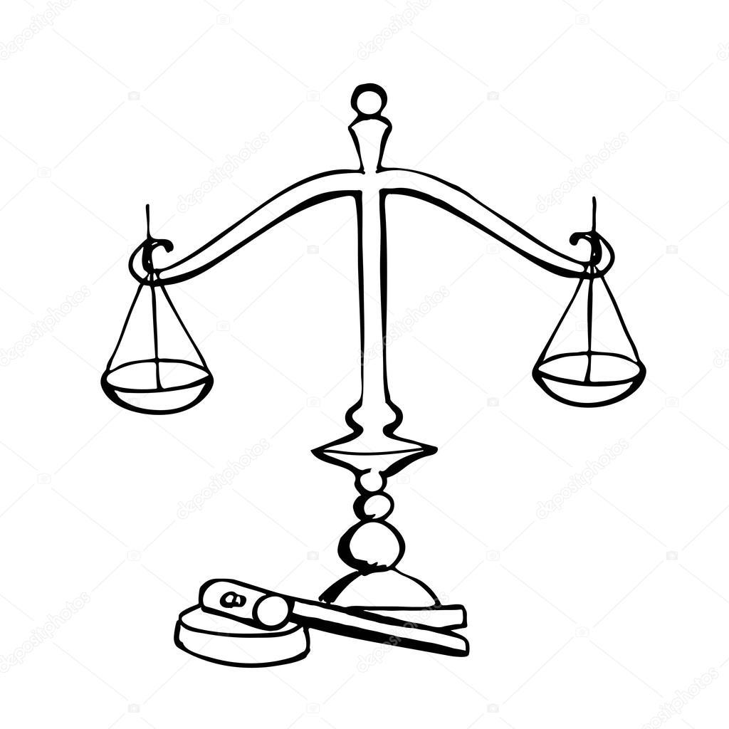 Símbolo De La Ley Y La Justicia Archivo Imágenes Vectoriales